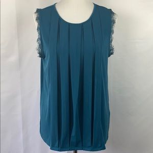 Banana Republic Sleeveless Pleated Top with Lace